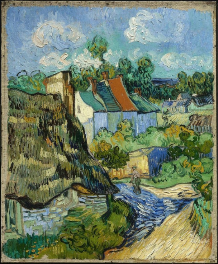 Vincent Van Gough, Houses at Auvers, 1890.