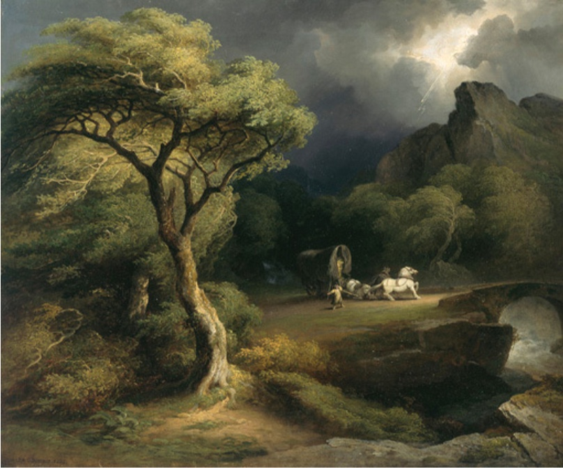 James Arthur O'Connor, Thunderstorm: The Frightened Wagoner, 1832